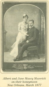 1877 Jane & Albert Maverick Honeymoon Picture